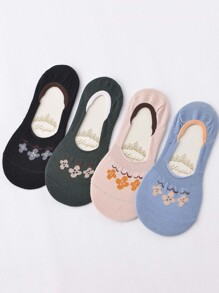 Flower Invisible Socks 4pairs