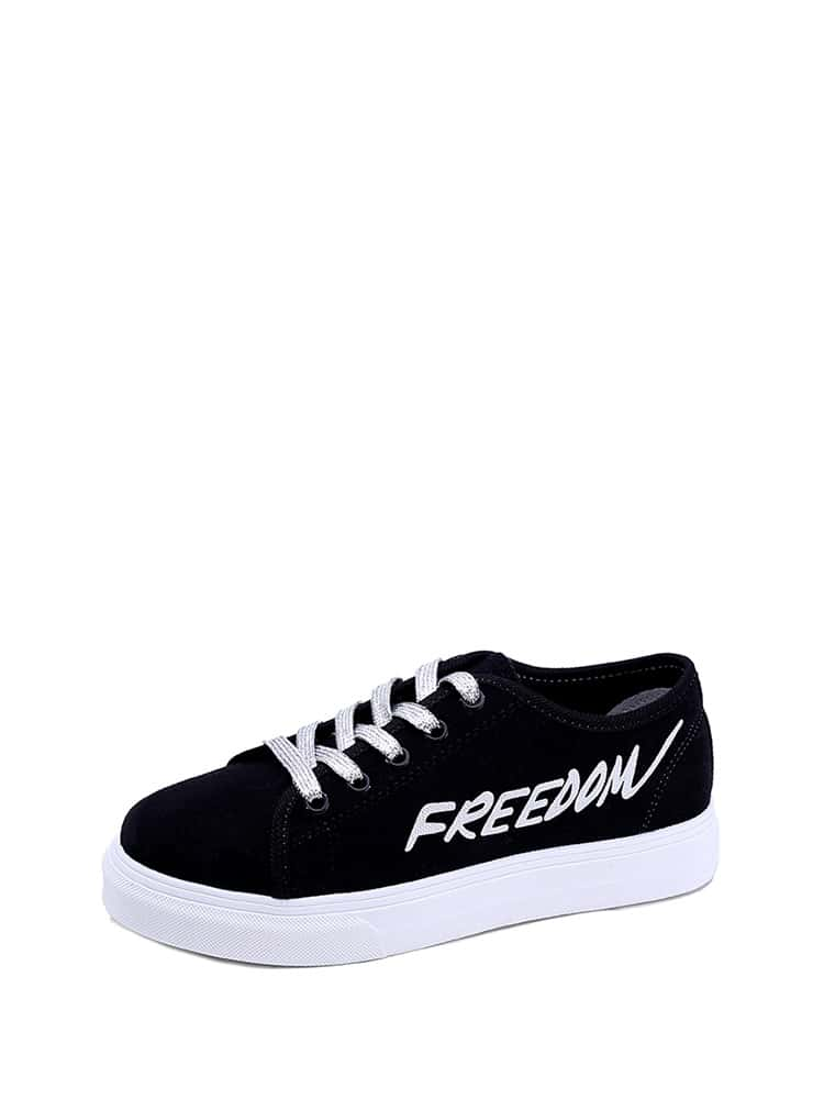 Zapatillas deportivas con cordón con estampado de slogan