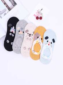 Cartoon Invisible Socks 5pairs