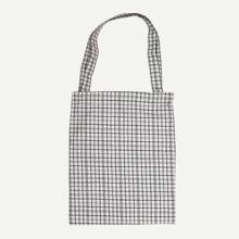 Gingham Detail Tote Bag bag180620308