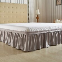 1PC Solid Bed Skirt bedskirt180620502