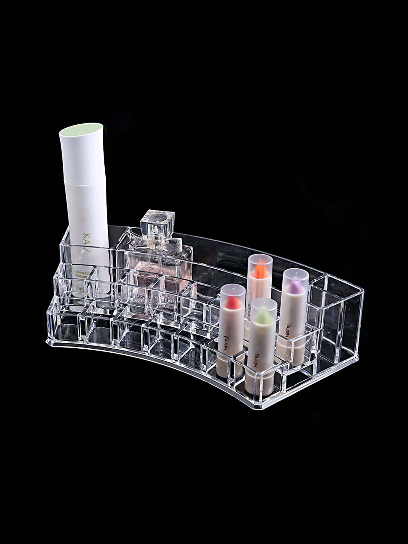 Multi Compartment Clear Makeup Holder