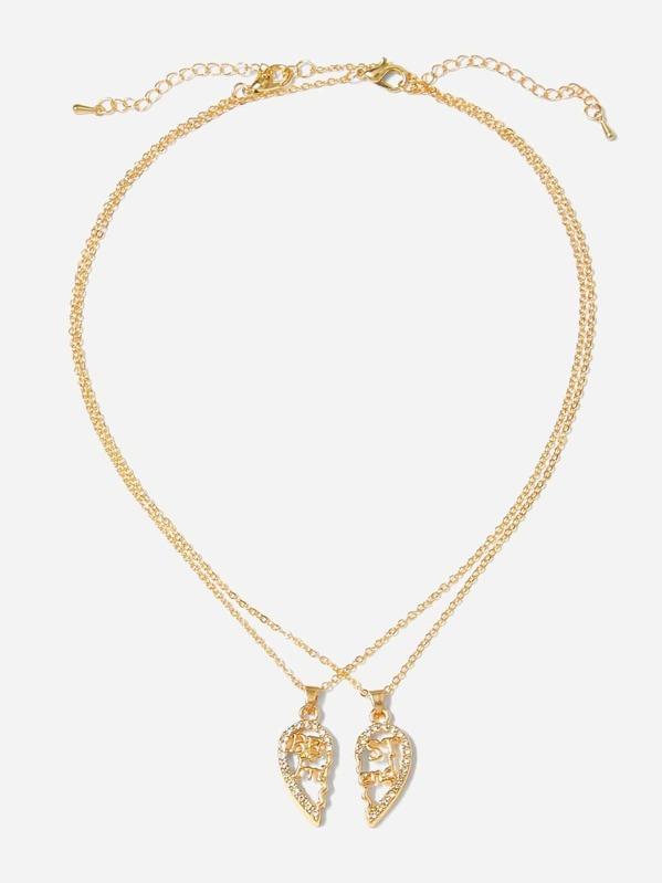 772bfb3800 Cheap Hollow Heart Pendant Couple Necklace 2pcs for sale Australia | SHEIN