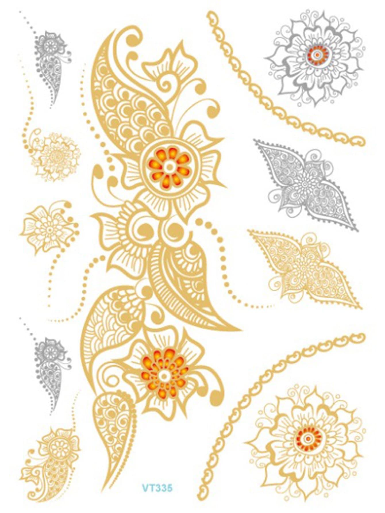 Paisley Pattern Tattoo Sticker