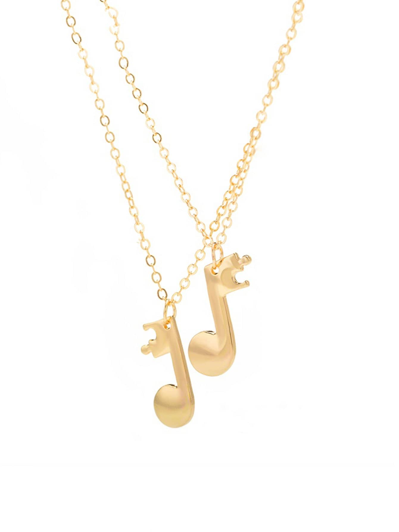 kivick pendant musical charm note product necklace image products
