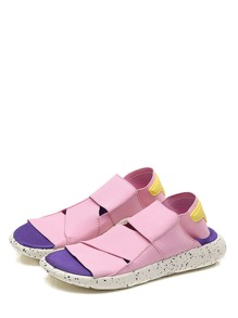 Color Block Slingback Sport Sandals