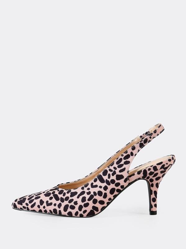 def030394a9b Cheap Faux Suede Leopard Print Pointed Toe Sling back Pumps for sale  Australia