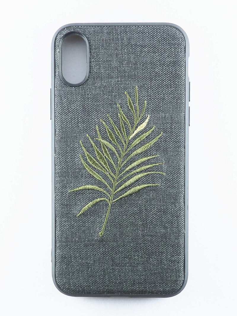 Embroidered Leaf iPhone Case