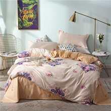 Allover Flower Print Duvet Cover