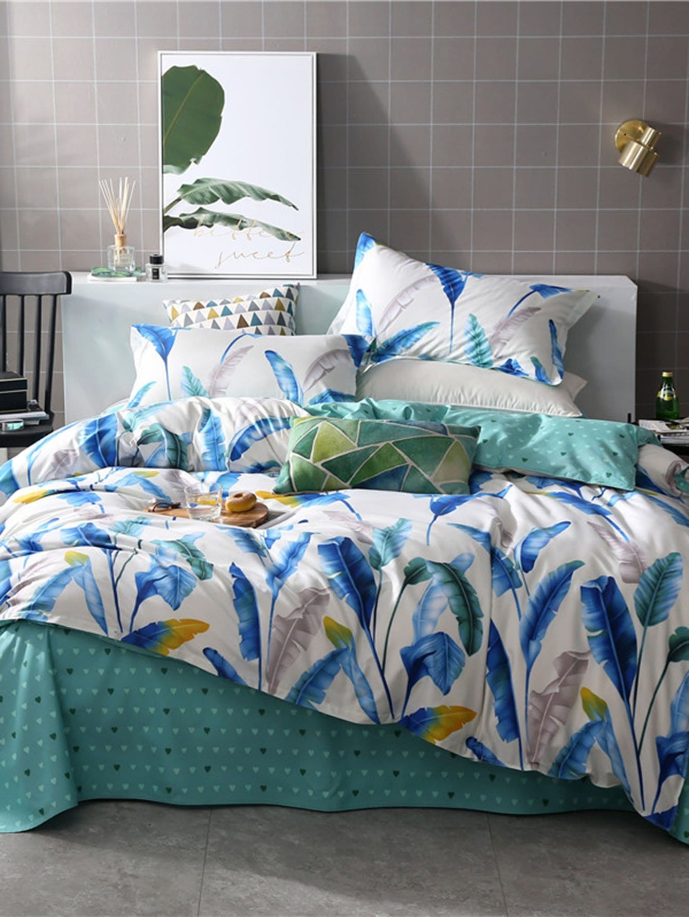 Feather Print Duvet Cover