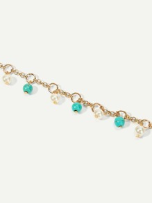 Beaded Decorated Chain Anklet