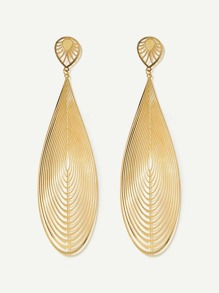 Waterdrop Shaped Metal Drop Earrings