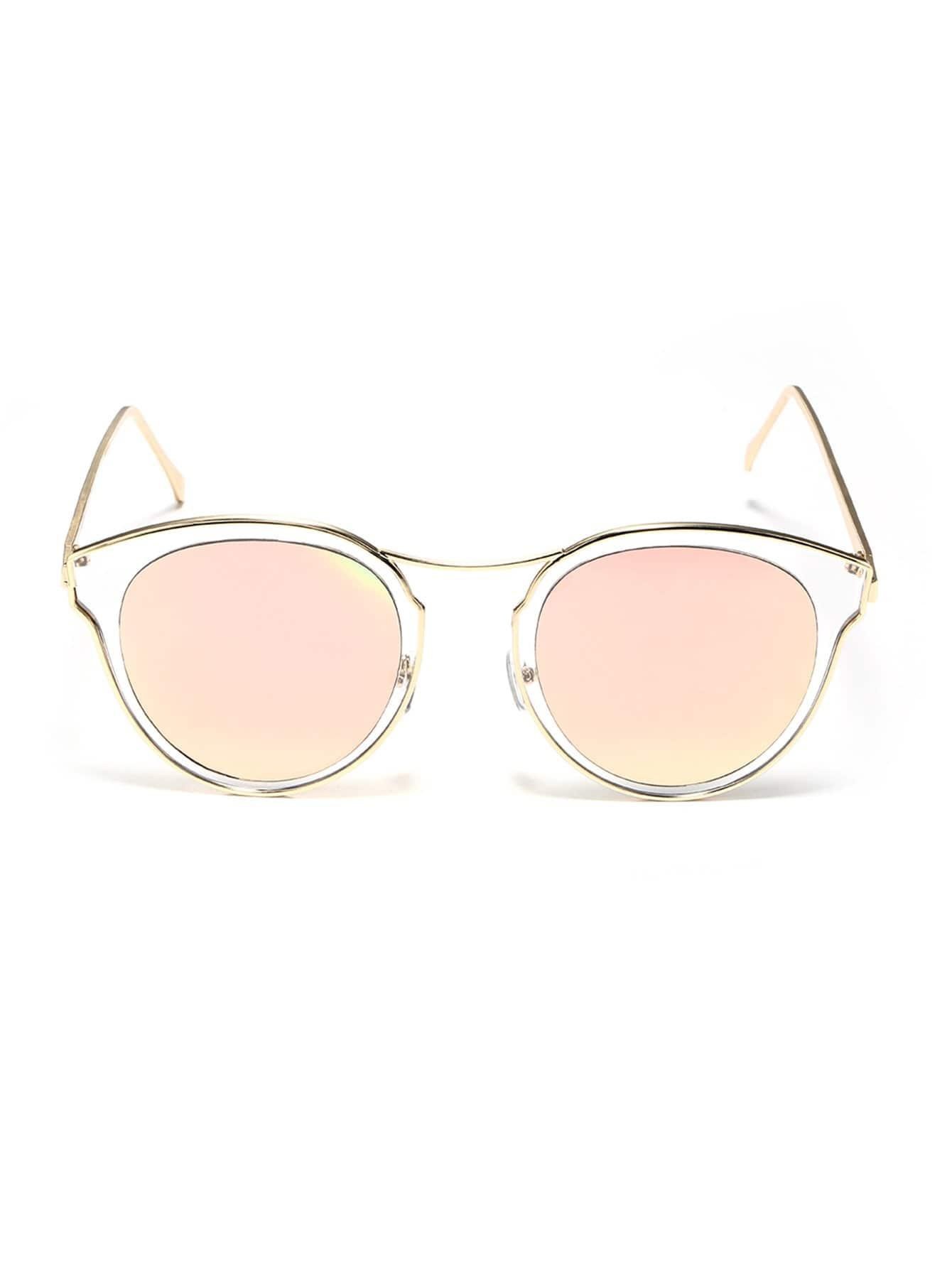 Sonnenbrille mit transparentem Rahmen und flacher Linse- German romwe