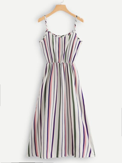 Striped Print Cami Dress