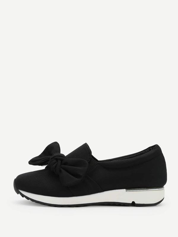 Sneakers con basse frontali con Sneakers nodo Italian SheIn(Sheinside) b8c532
