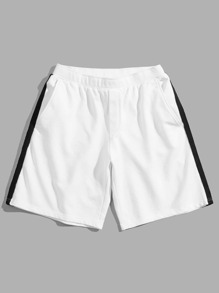 Men Striped Side Shorts