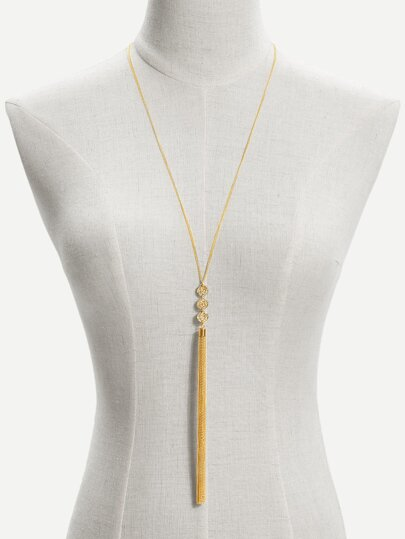 Long Tassel Pendant Chain Necklace