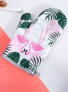 Flamingo & Tropical Print Oven Glove
