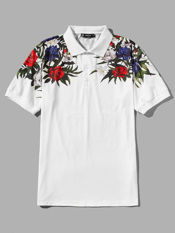 182e888c Men Floral Print Polo Shirt | SHEIN