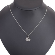 Hollow Lotus Pendant Necklace