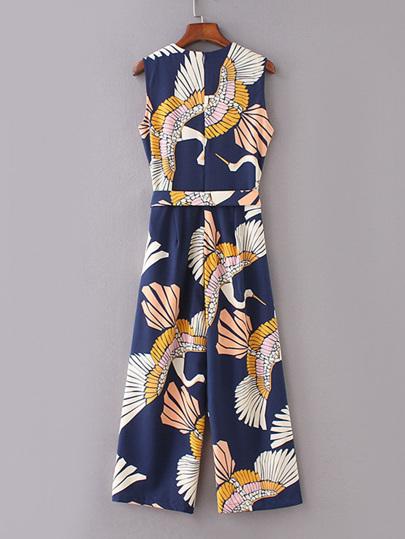 a72762017fd Jumpsuit med med mönster av kranar