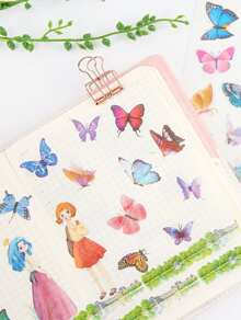 Butterfly Printed Sticker 6sheets