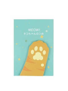 Cat Paw Shaped Sticky Note 30sheets