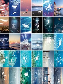Ocean Scenery Luminous Postcard 30sheets
