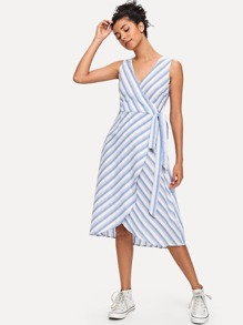 Knot Side Striped Dress