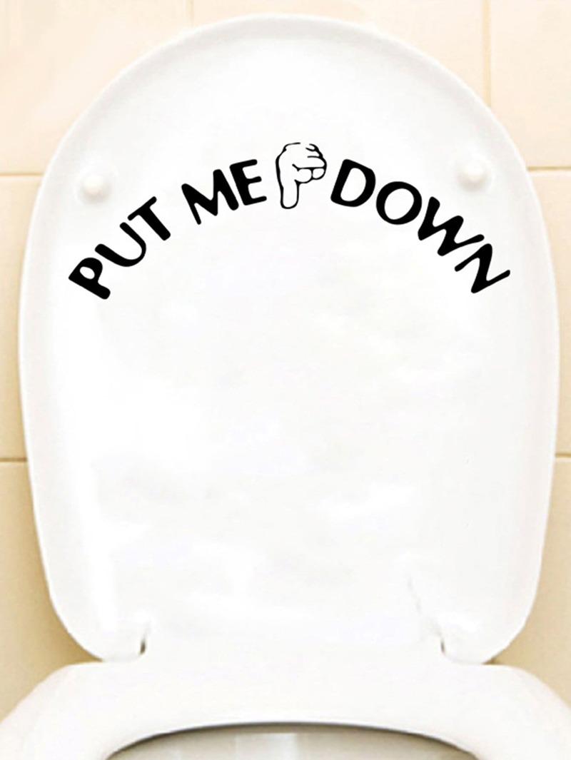 Toilet Slogan Sticker