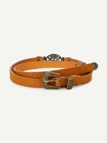 Western Buckle Metal Linked Belt