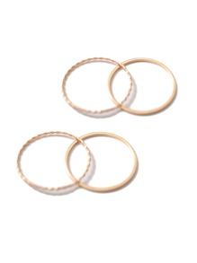 Slim Ring Set 4pcs