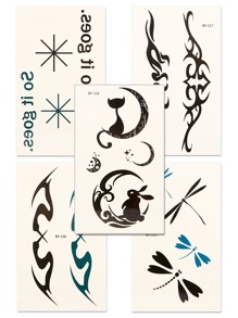 Totem Pattern Tattoo Sticker Set 5pcs