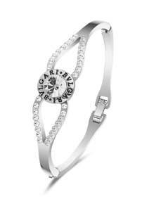 Rhinestone Engraved Bangle