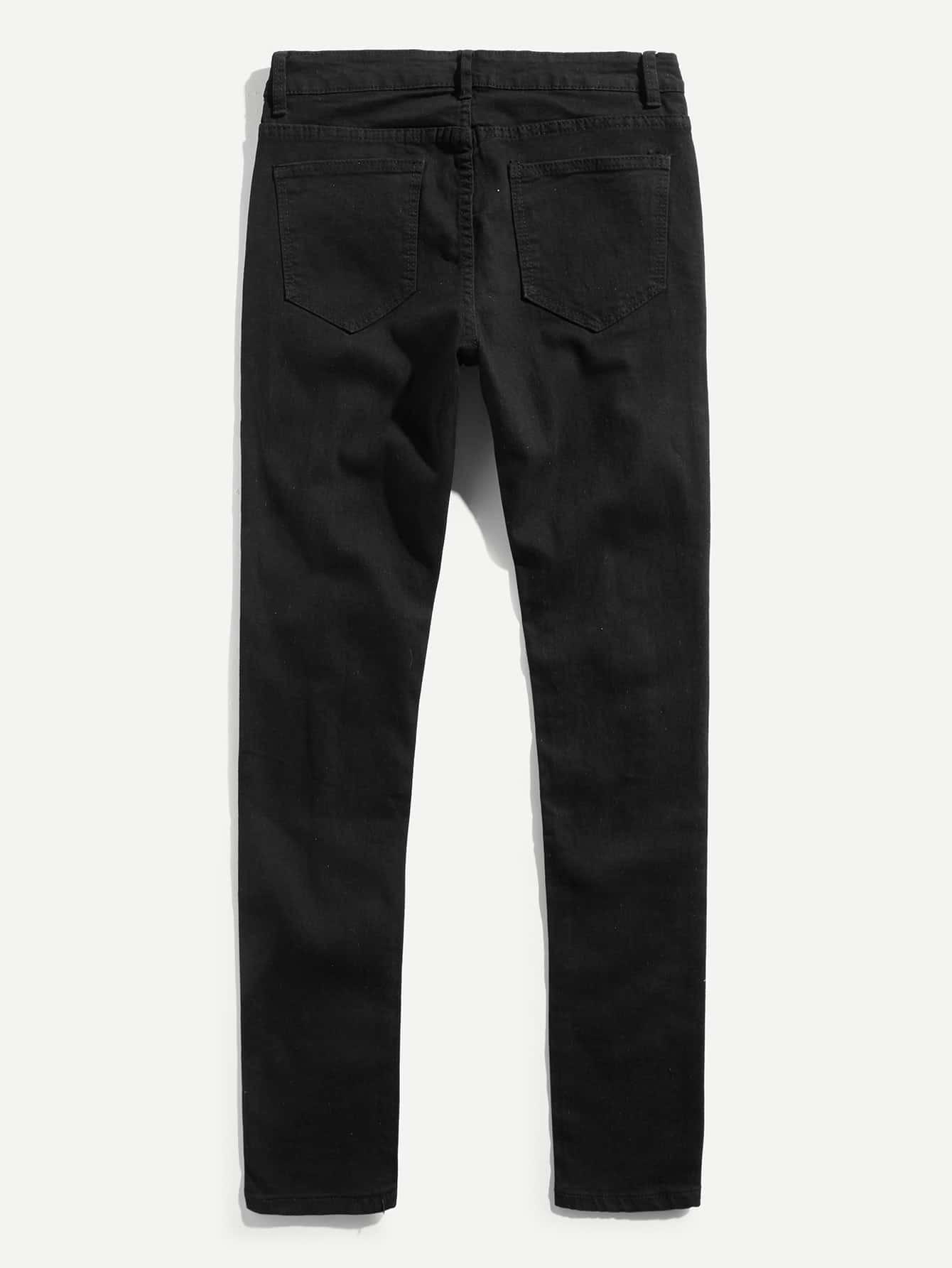 m nner zerrissene jeans hosen german shein sheinside. Black Bedroom Furniture Sets. Home Design Ideas