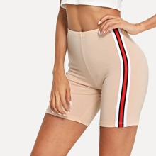 - Striped Tape Side Cycling Shorts