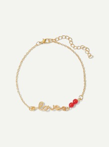 Letter Decorated Chain Anklet
