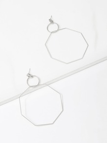 Open Geometric Drop Earrings 1pair