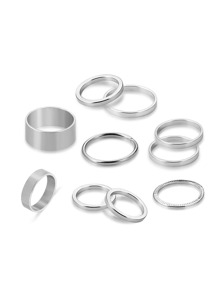 Plain Design Ring Set 10pcs