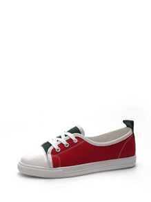 Color Block Low Top Sneakers