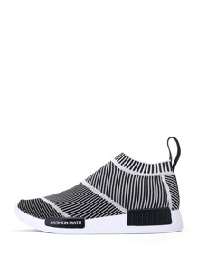Striped Slip On Sock Sneakers