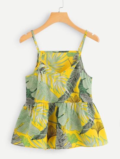 5d0e818458 Floral Print Random Babydoll Cami Top   SHEIN