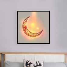 Moon Painting Cloth Wall Art 1pc