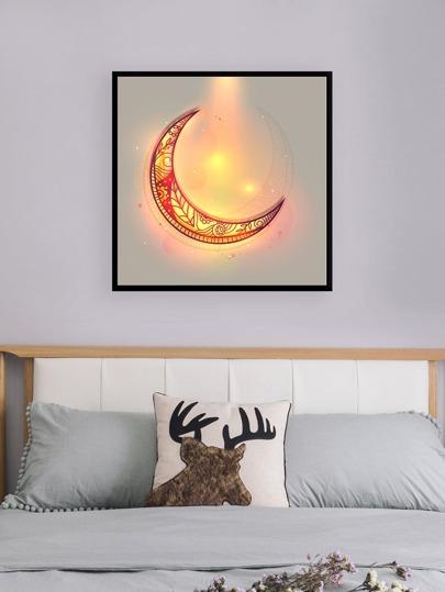 Moon Painting Cloth Wall Art 1pcFor Women-romwe