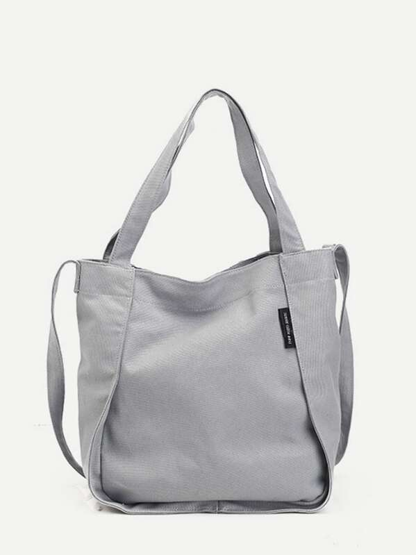 50a01b21e3 Canvas Tote Bag | SHEIN UK