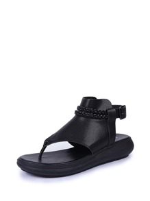Woven Strap Toe Post Sandals