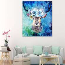 Deer Painting Cloth Wall Art