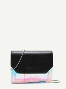 Iridescent Detail Chain Bag