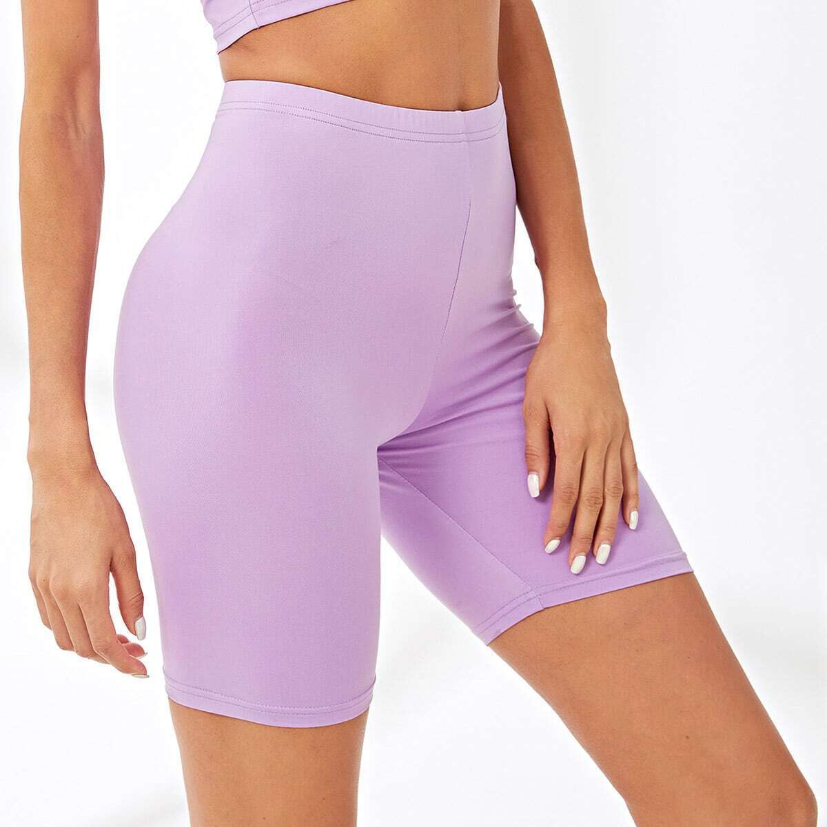 - Solid Skinny Legging Shorts