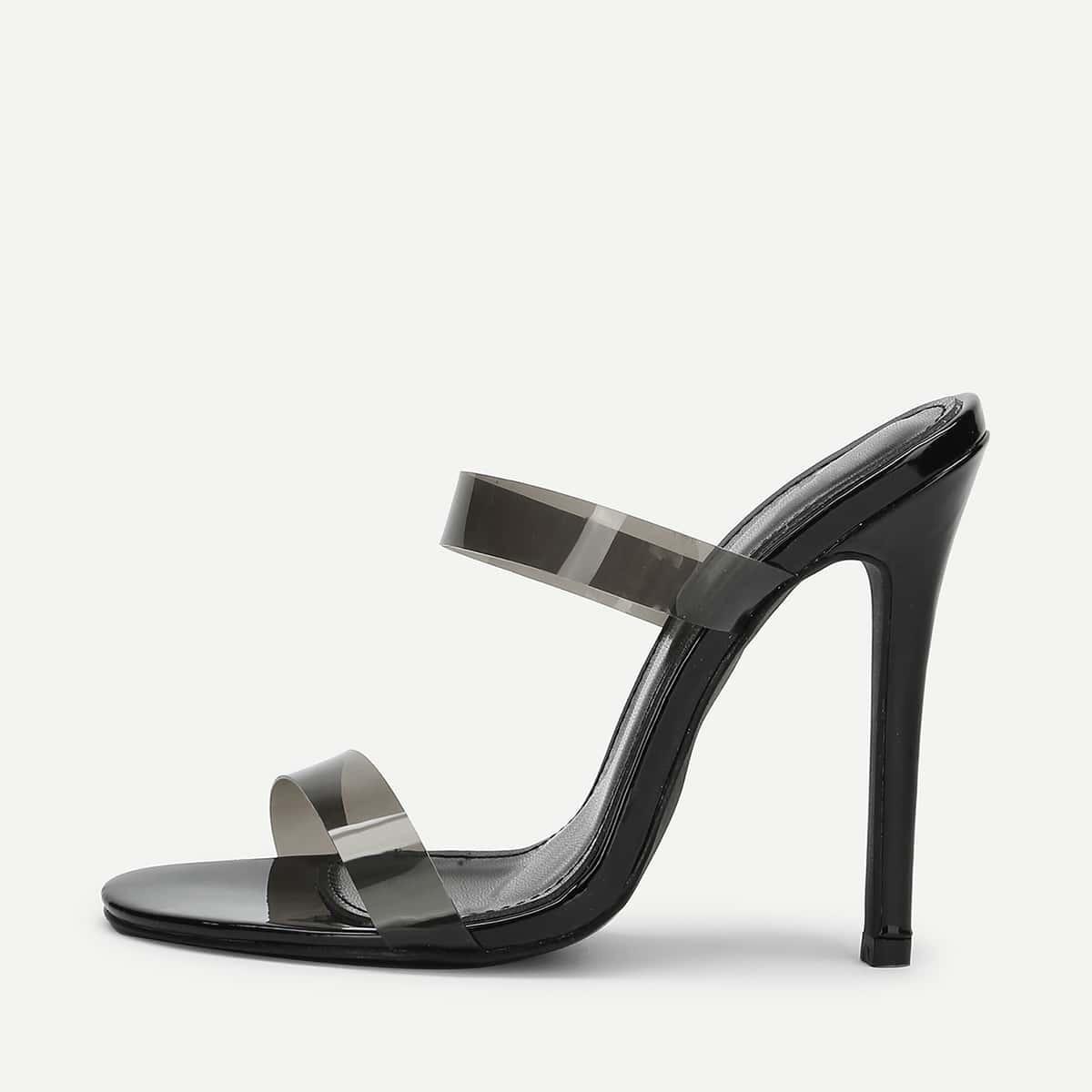 - PVC Strap Stiletto Heels